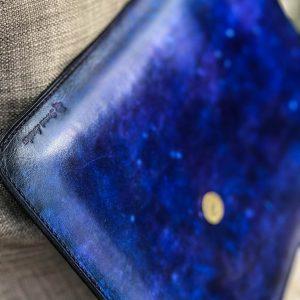 Bao da Macbook – Laptop – Surface – Ipad – table tap patina Xanh navy độc lạ 11