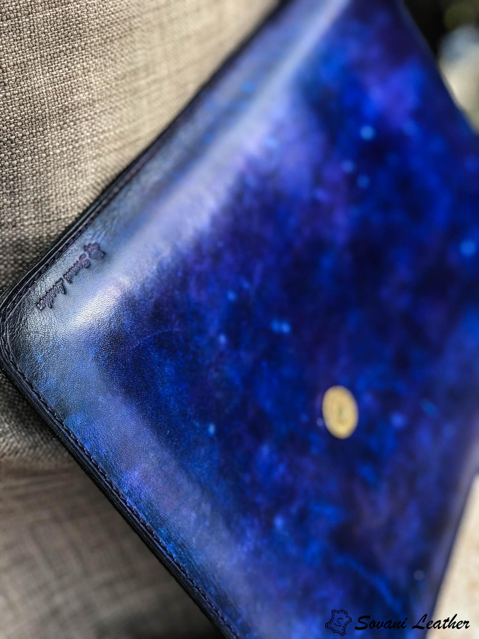 Bao da Macbook – Laptop – Surface – Ipad – table tap patina Xanh navy độc lạ 17