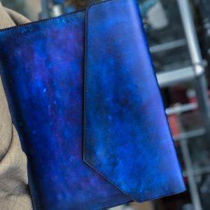Bao da Macbook – Laptop – Surface – Ipad – table tap patina Xanh navy độc lạ 12