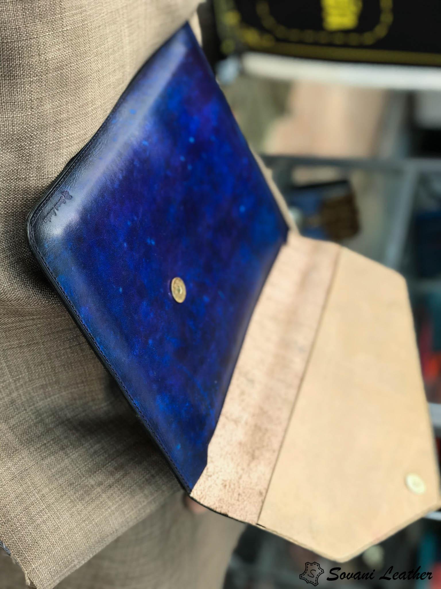 Bao da Macbook – Laptop – Surface – Ipad – table tap patina Xanh navy độc lạ 19