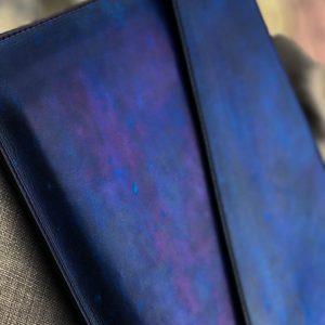 Bao da Macbook – Laptop – Surface – Ipad – table tap patina Xanh navy độc lạ 14