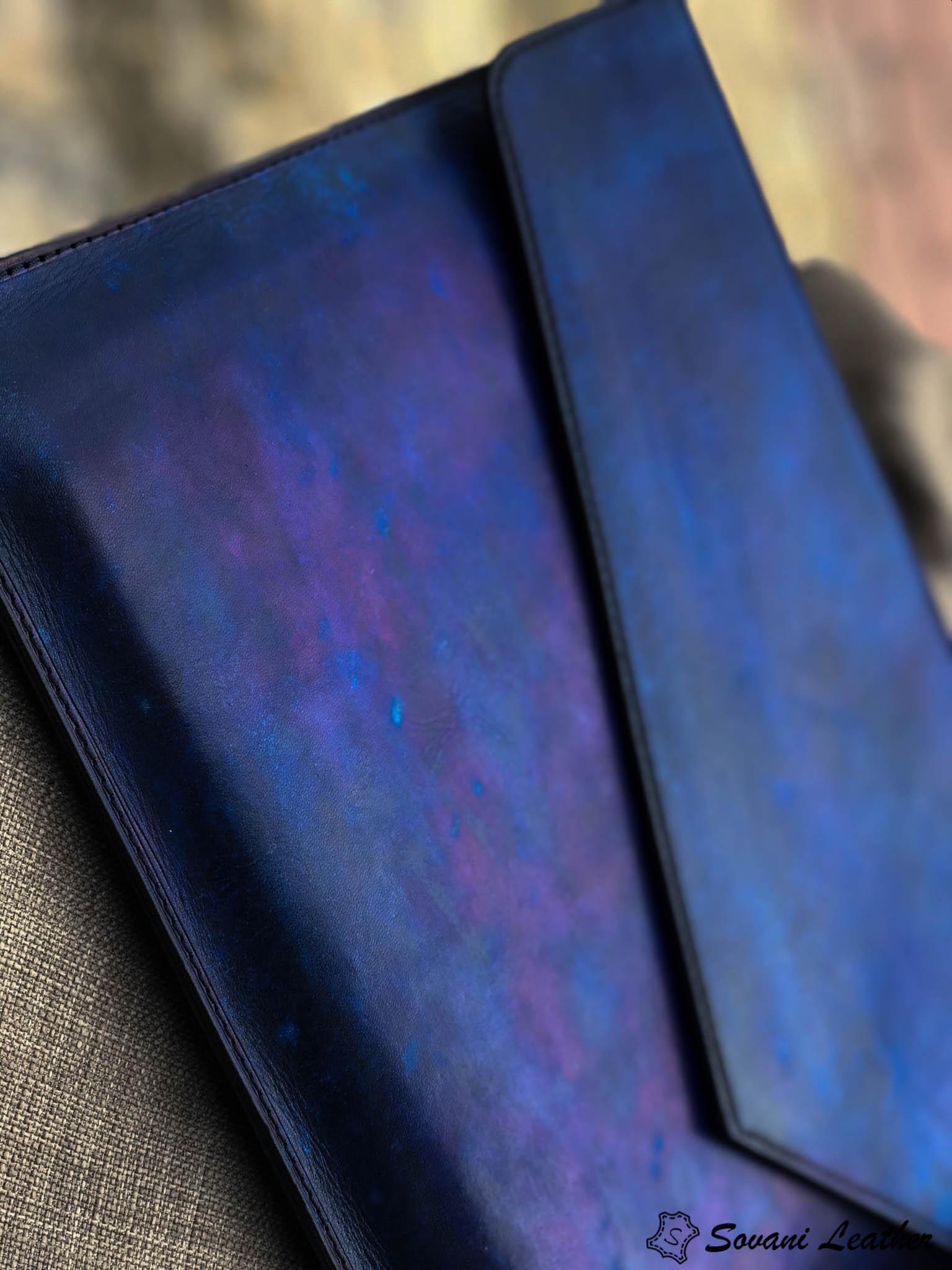 Bao da Macbook – Laptop – Surface – Ipad – table tap patina Xanh navy độc lạ 20