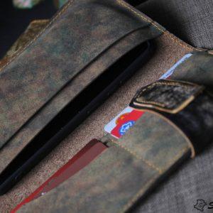 Ví cầm tay handmade cao cấp – Vegetable tan patina 13