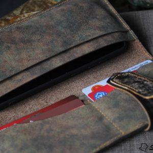 Ví cầm tay handmade cao cấp – Vegetable tan patina 15