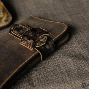 Ví cầm tay handmade cao cấp – Vegetable tan patina 12