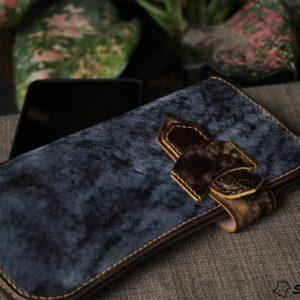 Ví cầm tay handmade cao cấp – Vegetable tan patina 11