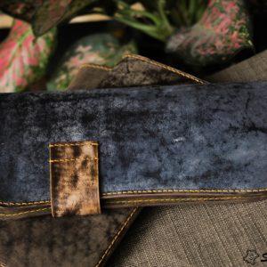 Ví cầm tay handmade cao cấp – Vegetable tan patina 10