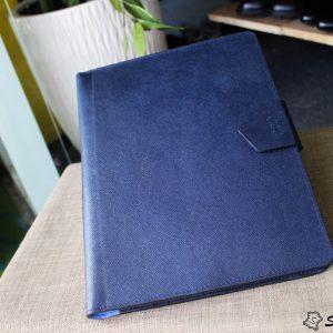 Túi da handmade đựng Macbook, Laptop Surface xanh navi 21