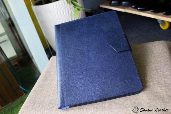 Túi da handmade đựng Macbook, Laptop Surface xanh navi 9