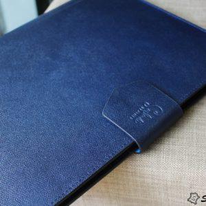 Túi da handmade đựng Macbook, Laptop Surface xanh navi 22
