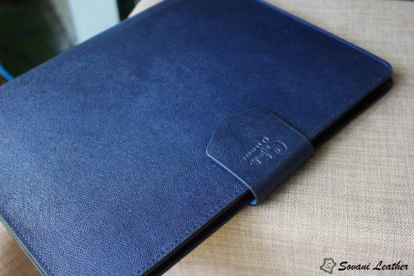 Túi da handmade đựng Macbook, Laptop Surface xanh navi 10