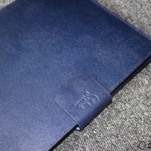 Túi da handmade đựng Macbook, Laptop Surface xanh navi 23