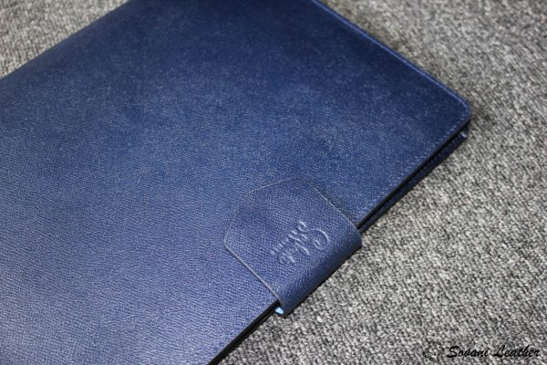 Túi da handmade đựng Macbook, Laptop Surface xanh navi 11