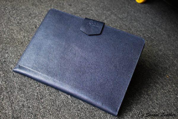Túi da handmade đựng Macbook, Laptop Surface xanh navi 2