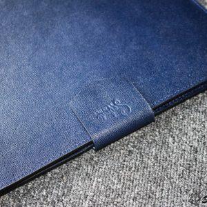 Túi da handmade đựng Macbook, Laptop Surface xanh navi 24