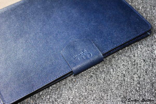 Túi da handmade đựng Macbook, Laptop Surface xanh navi 12