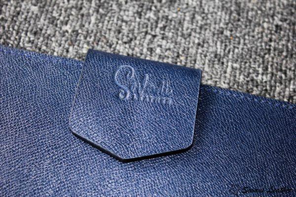 Túi da handmade đựng Macbook, Laptop Surface xanh navi 13