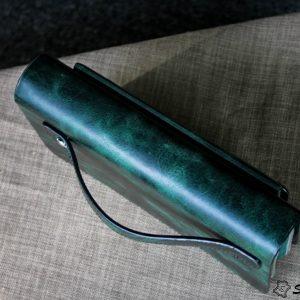 Ví Cầm Tay Zip 2 Khóa Cao Cấp -Da pullub wax nhập khẩu. 17