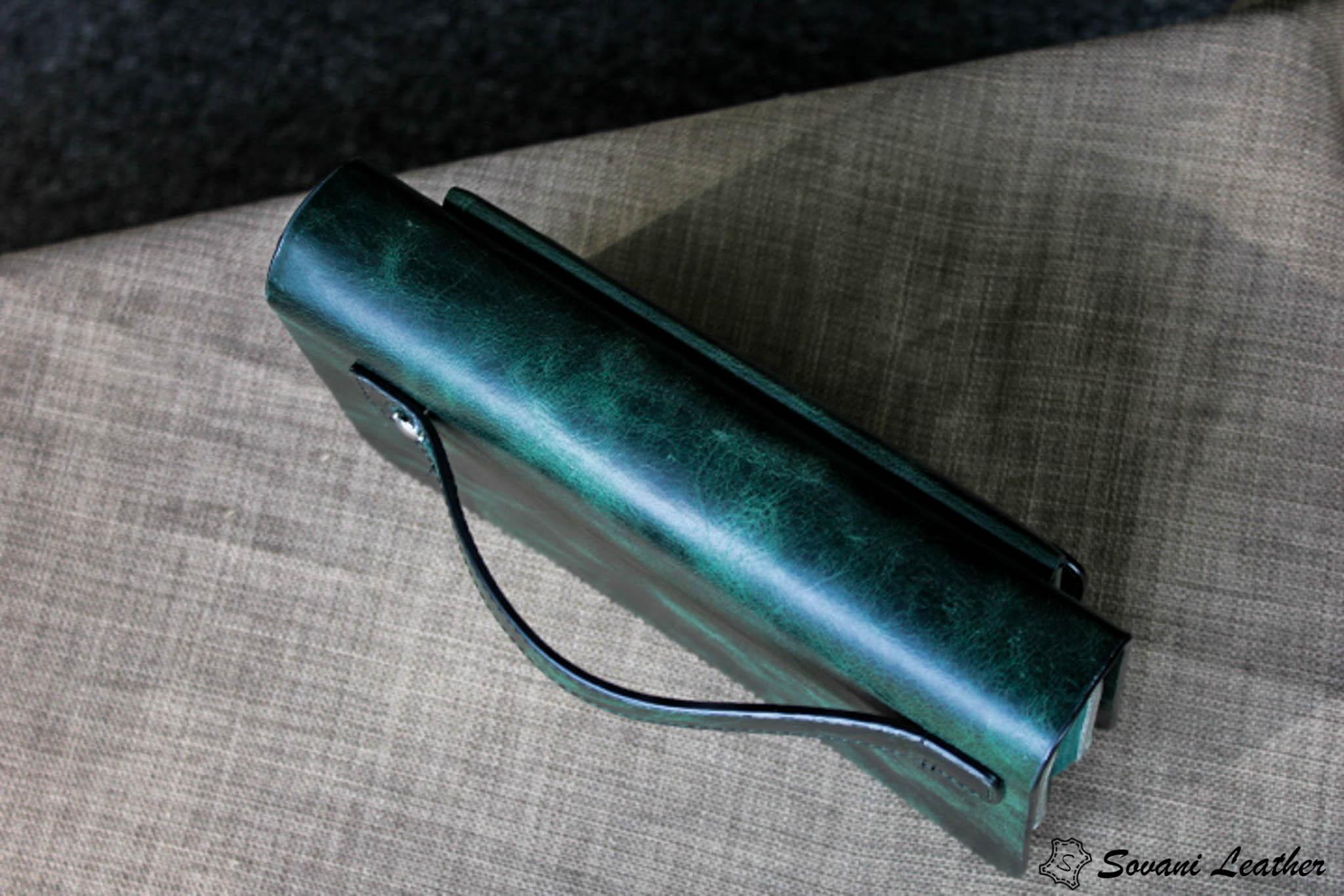 Ví Cầm Tay Zip 2 Khóa Cao Cấp -Da pullub wax nhập khẩu. 38
